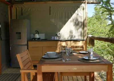 self catering camp chobe