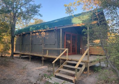 chobe forest camp uxury tent